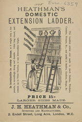 Advert For Heathman's Domestic Extension Ladder